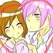 ピンクと臣ガール