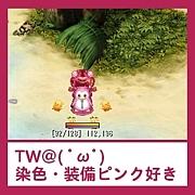 TW@染色・装備ピンク好き