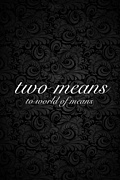 two means☆