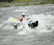 北海道でカヌー遊び