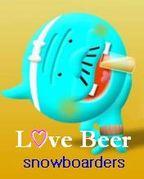 Love Beer snowboarders