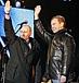 メドベージェフ大統領を応援する