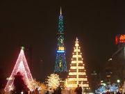 テレビ塔がクリスマスツリー☆