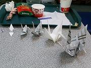 ついつい折鶴。