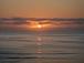 夜明け前の太陽の輝き部