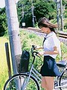 自転車と制服