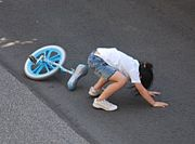 一輪車に乗れない。