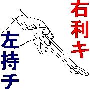 右利き人、左で箸使う