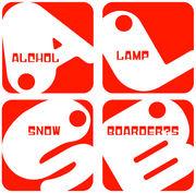 alchol lamp snow boarder's