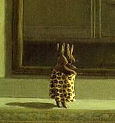 ヒョウ柄パンツをはくウサギの会