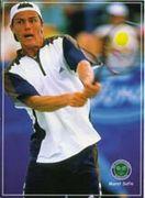テニス:両手バックから勝利へ!!