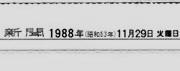1988年(S.63)11月29日生まれ