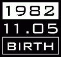 1982年11月5日生まれ