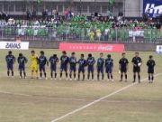 サッカー観戦写真