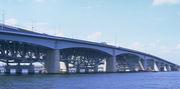 荒川河口橋経由、自転車通勤
