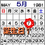1981/05/07生まれ
