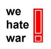 we hate war!! をmixiで叫ぼう