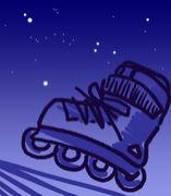 インラインスケート 夜間部