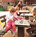 カフェでチェス