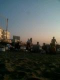 お台場でビーチバレー