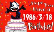 1986年3月18日がBirthday♪