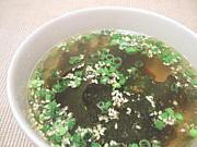 ワカメスープが好き