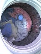 洗濯機の蓋を開けて見てしまう