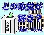 どの政党が好き? for mixiのギャラリー画像