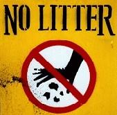 ゴミのポイ捨て禁止