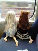 娘とお出かけ (娘=人形)