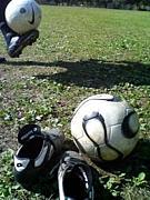 サッカーしてます!
