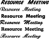☆RESOURCE MEETING☆