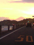 今日も富士山が見えました。