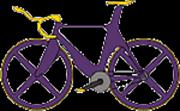 一人で自転車乗ってます!