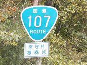 国道107号線