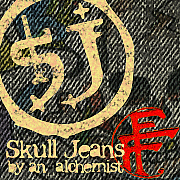FAB FOUR/SKULL JEANS