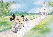 遠くからでもDisney Wedding