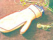 ipodは手袋に。。