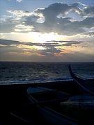 夕陽 夕焼け 太陽と景色