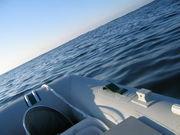 ゴムボートでアジ釣り