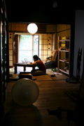 Bamboo village house in kyoto