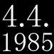 ♪♪1985年4月4日♪♪
