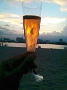 海辺でワイン会サークル