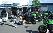 SP新潟でバイクのジムカーナ