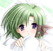 緑髪ショート