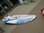 浜名湖でウィンドサーフィンを