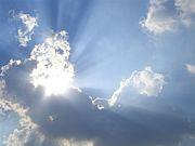 太陽の光が…導きの瞬間