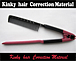 kinky hair Correction Material