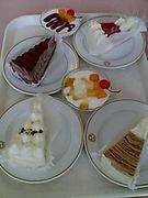 リバティーの食堂のケーキが好き