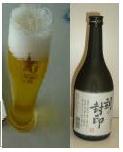 ビール→焼酎
